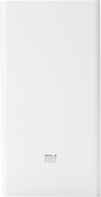 Mi 20000 mAh Power Bank(White, Lithium-ion)