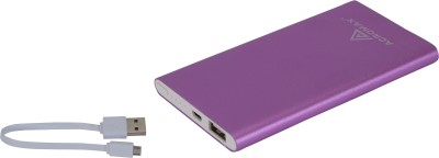 Acromax AM-50 Super Slim Compact 5000 mAh Power Bank(Purple, Lithium Polymer)