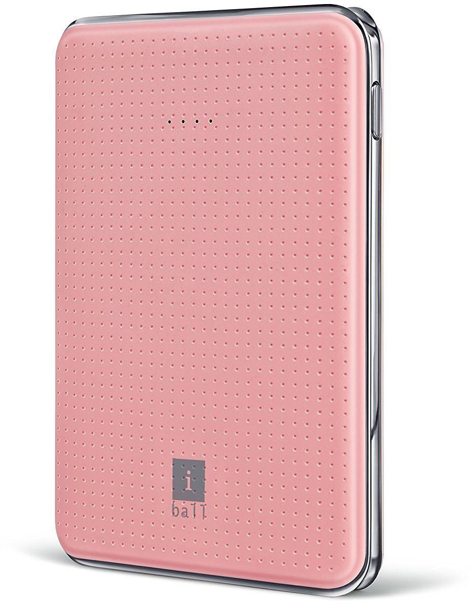 Iball PB-5049 Portable Dual USB Slim 5000 mAh Power Bank(Pink)