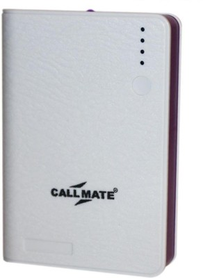 Callmate Leather Wallet 10400 mAh Power Bank(White, Lithium-ion)