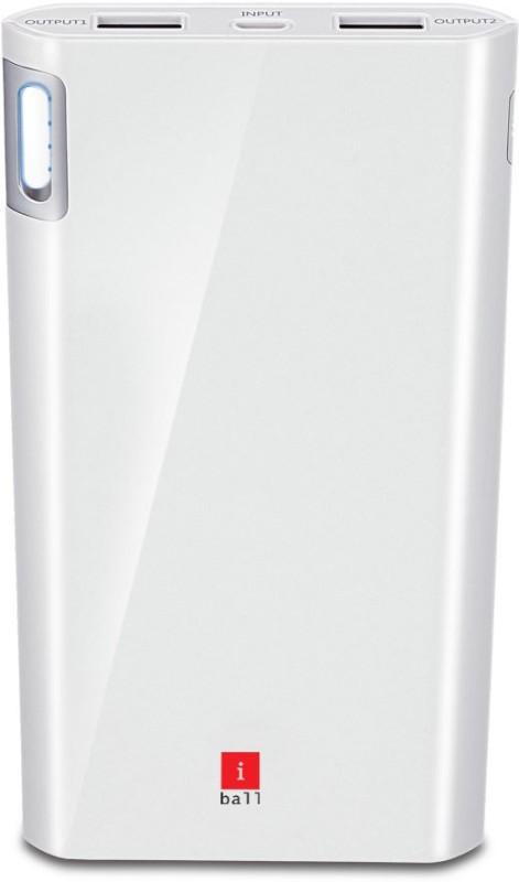iBall PLM-10003 Li-Polymer 2 Port USB-Higher Safety Light Weight-White 10000...