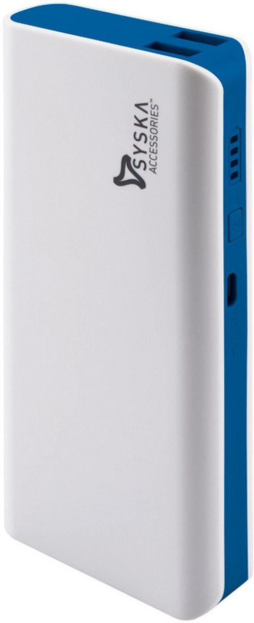 Syska X110 11000 mAh Power Bank(White,Blue, Lithium-ion)