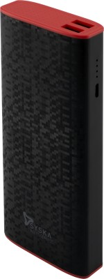 Syska Economy 100 10000 mAh Power Bank Black, Red, Lithium ion  available at Flipkart for Rs.899
