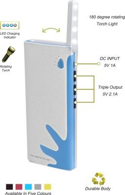 Ambrane P-1122 Power Bank White & Blue 10000 mAh