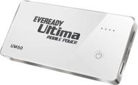 Eveready UM 60 6000 mAh Power Bank(White, Lithium Polymer)