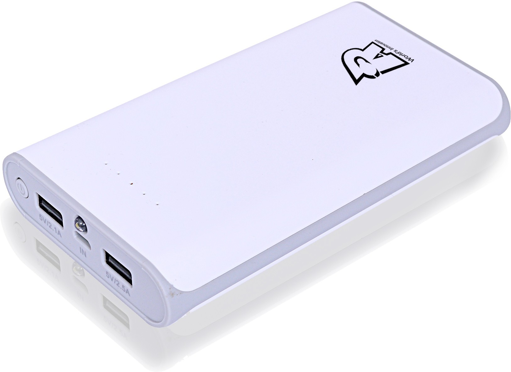 Rotry RI-1560 15600 mAh Power Bank(White/Grey, Lithium-ion)