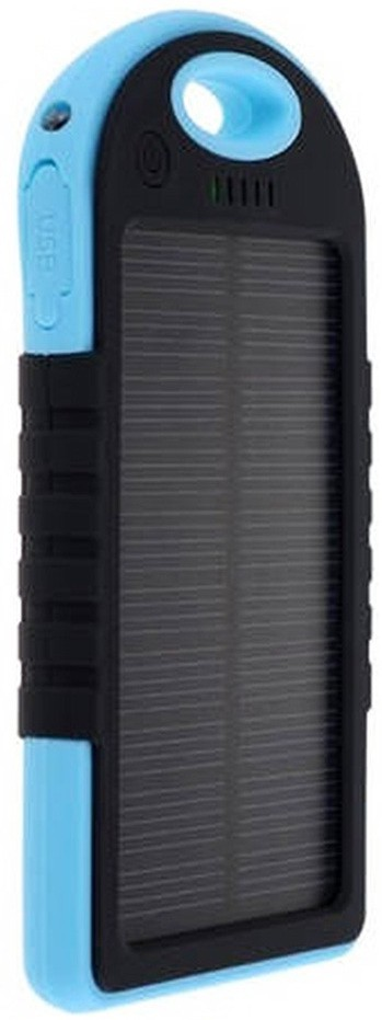 HashTag Glam 4 Gadgets HT SOLAR844 Water Resistant  5000 mAh Power Bank(Blue, Black, Lithium Polymer)