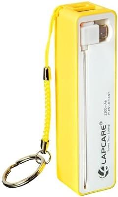Lapcare LROBTCU4091YL 2200 mAh Power Bank(Yellow, Lithium-ion)