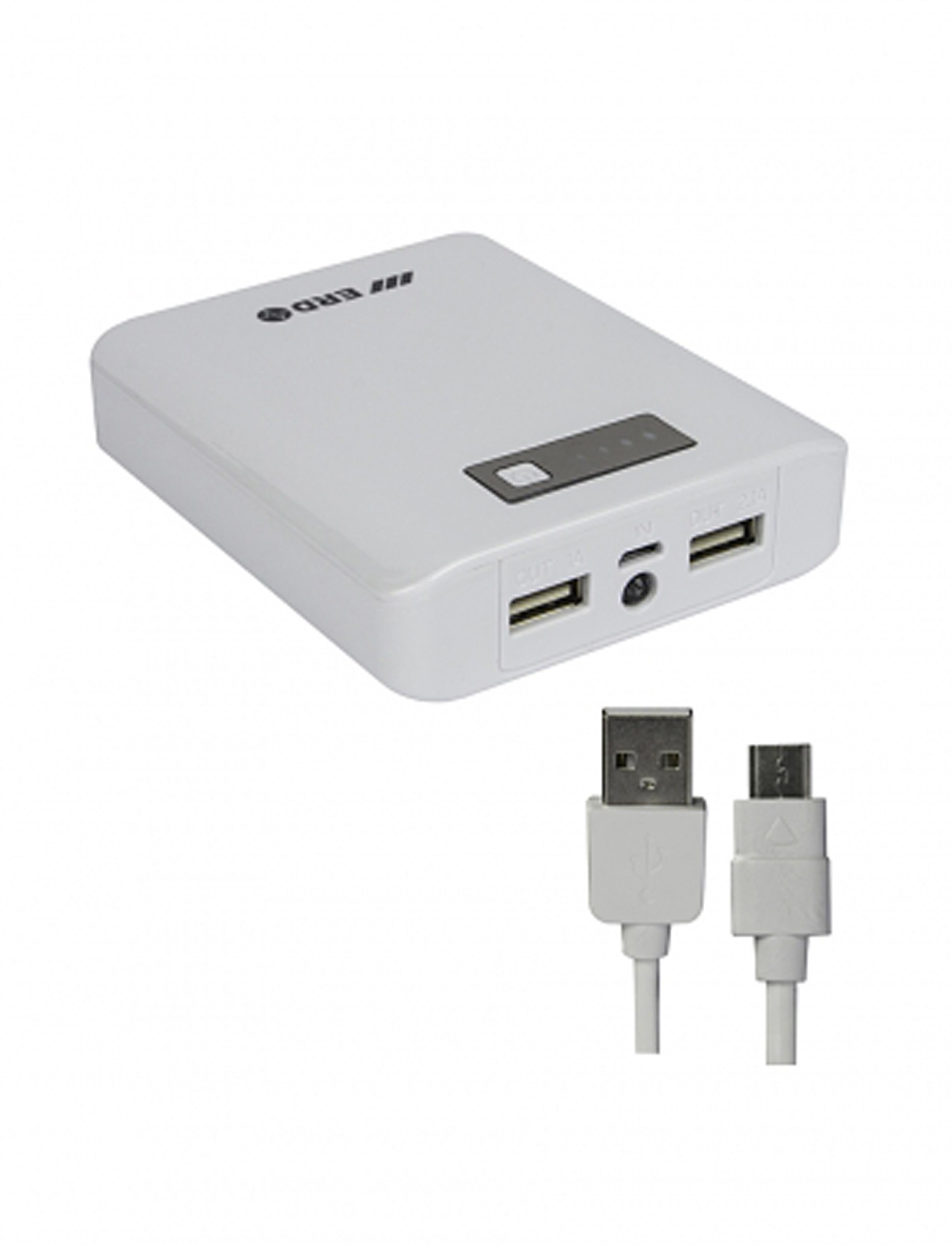 ERD PB-207C Portable Mobile Charger 10400 mAh Power Bank(White, Lithium-ion)