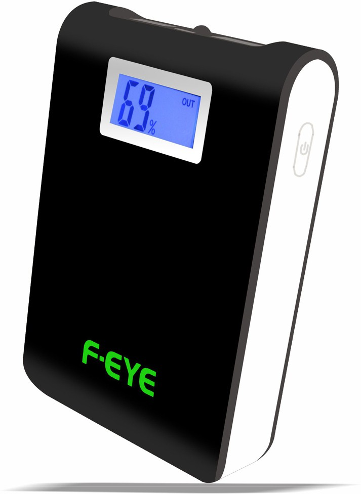 F-EYE High Quality LCD Digital Display With Constant DC Function 8000 mAh Power Bank(Black, Lithium-ion)