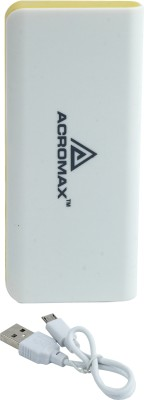 Acromax Am-130 super plus charger 13000 mAh Power Bank(Yellow)