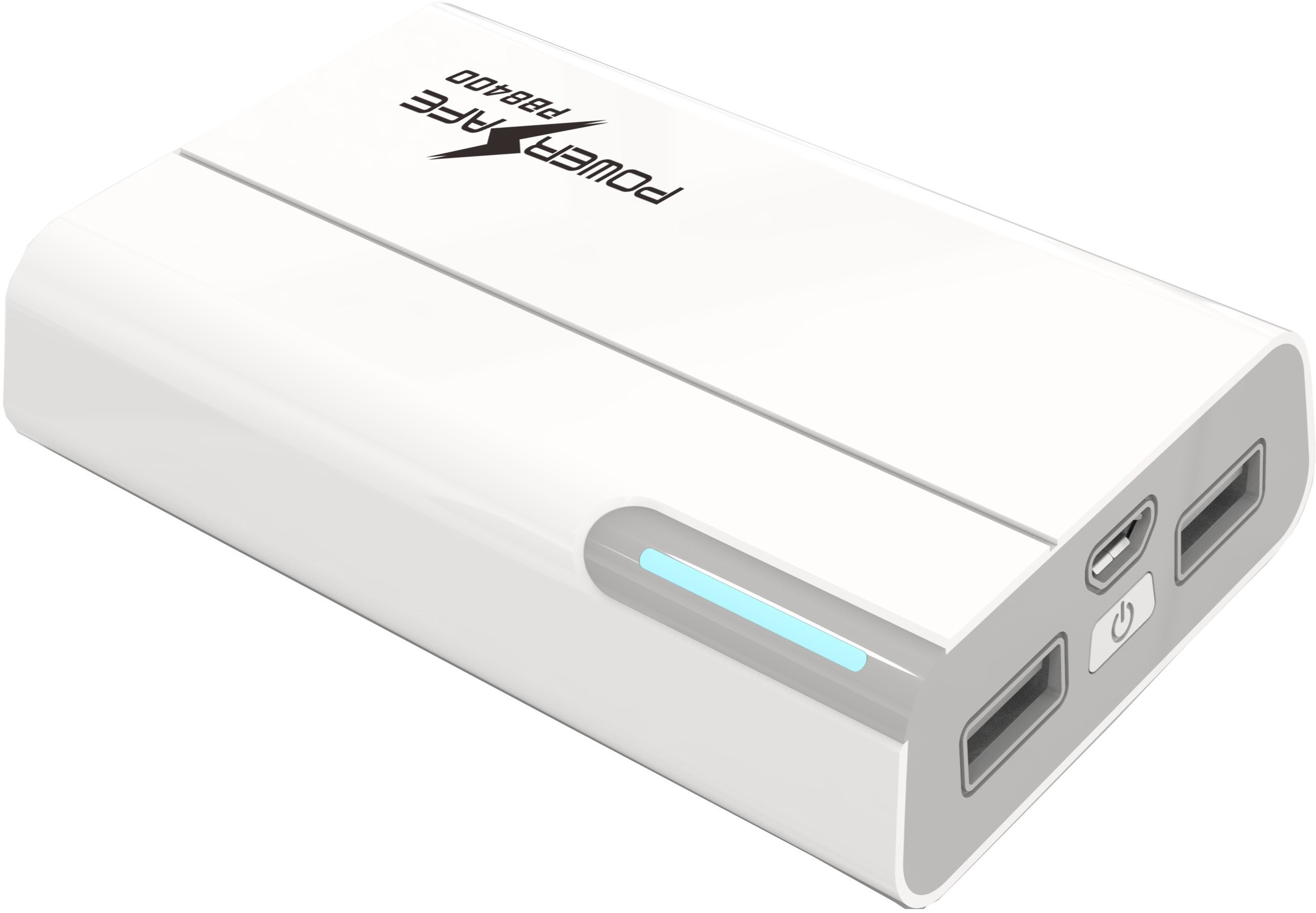 Powersafe PS-PB8400 Dual Usb Portable  8400 mAh Power Bank(White, Lithium Polymer)