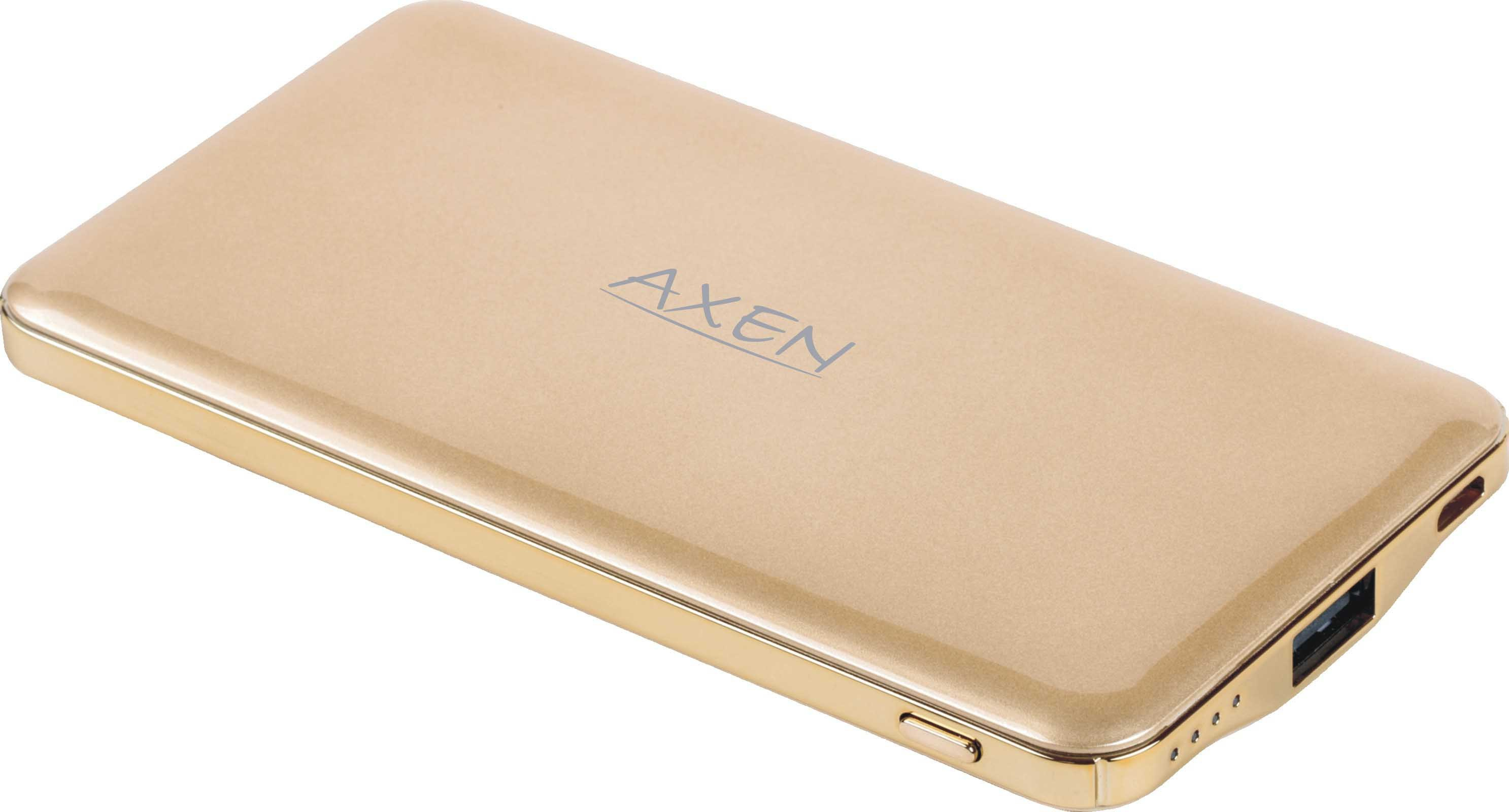 Axen 5000A Razor 5000 mAh Power Bank(Gold, Lithium Polymer)