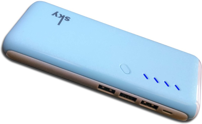 Sky Marketings pb2447 18000mah High capacity Charge Powerbank For Android and iOS Mobiles with LED torch 18000 mAh Power Bank(sky blue, Lithium-ion)