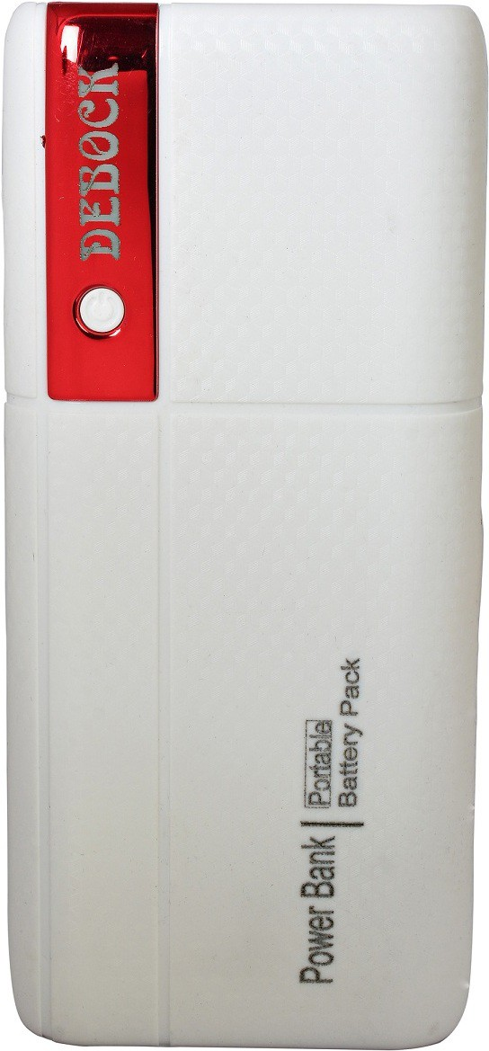 Debock Power Bank-002 Fast  With LED Torch 12000 mAh Power Bank(White, Red, Lithium-ion)