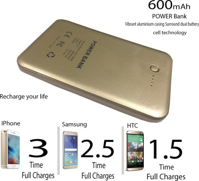 Evana AW-6000 Credit Card Size Battery Supply For Sony Samsung Apple Smart Phones Ultra Metal Shell Power Bank with LED Indicators 6000 mAh