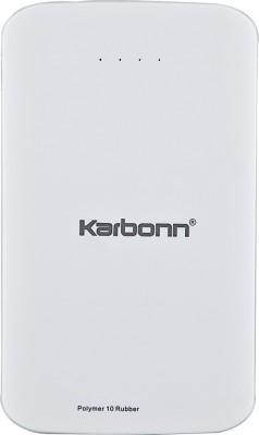 Karbonn Polymer 10 Rubber 10000 mAh Power Bank(White, Lithium Polymer)