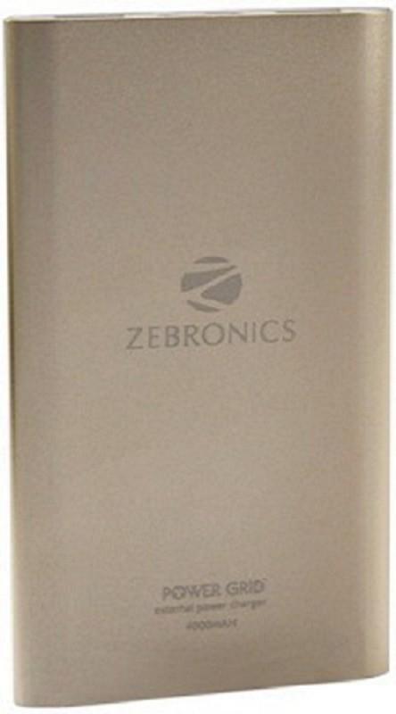 Zebronics ZEB-PG4000 External Power Charger 4000 mAh Power Bank(Golden, Lithium-ion)