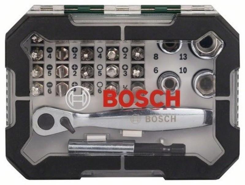 Bosch 26-piece screwdriver bit and rachet set Hand Tool Kit(26...