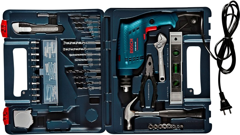 Bosch GSB 500 RE Power & Hand Tool Kit(92 Tools)
