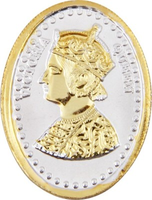 Payalwala 24 Kt Gold Plating Sterling Silver Queen Victoria Silver Sovereign Gold Coin