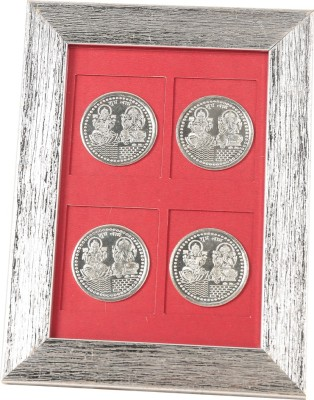 Jewel Fuel Laxmi Ganesha 4 Coin Frame Silver Gift