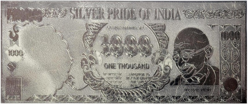 Techno Max Indian 1000 Silver Currency