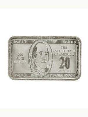 Jewel99 Dollar Silver Silver Bar