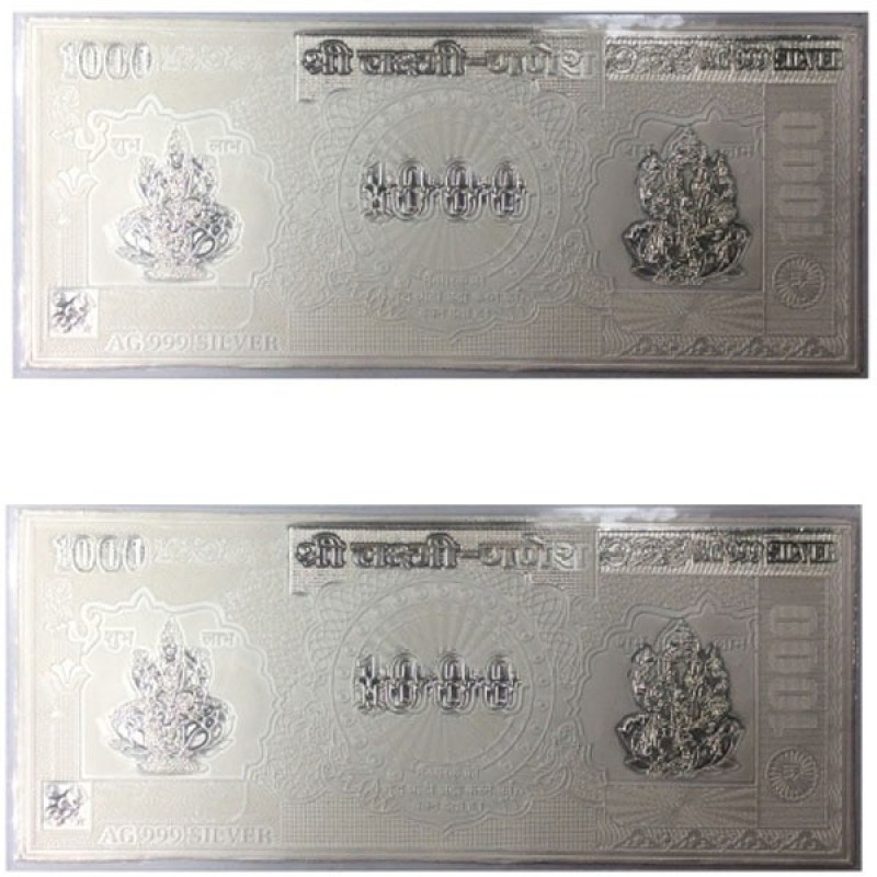 Kataria Jewellers Lakshmi Ganesha Silver Currency