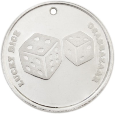 Osasbazaar 7 Dice - BIS Hallmarked with 99.9% Purity - 5 Gram Silver Lucky Charm