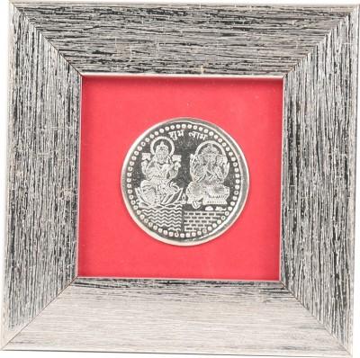 Jewel Fuel Laxmi Ganesha Coin Frame Silver Gift