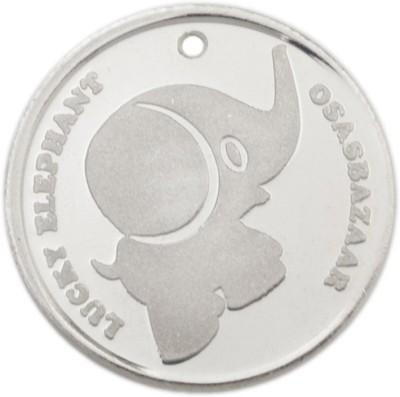 Osasbazaar Elephant - BIS Hallmarked with 99.9% Purity - 5 Gram Silver Lucky Charm Coin