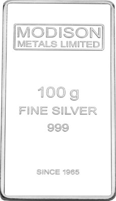 Modison Pure Silver 999 Bar 100gm For all Decorative