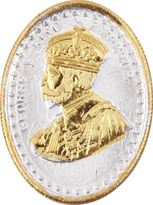 Jewel99 24 Kt Gold Plating Sterling Silver King George V Silver Sovereign Gold Coin