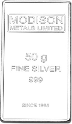 Modison Pure Silver 999 Bar 50gm For all Decorative