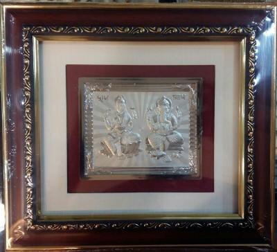 Chahat Jewellers Lakshmi Ganesh - 10 inch Silver Frame