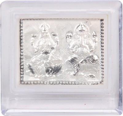 Jewel Fuel Laxmi Ganesha Frame Stand Silver Gift