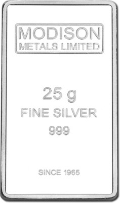 Modison Pure Silver 999 Bar 25gm For all Decorative