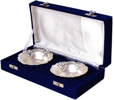Jewel Fuel Exclusive Gift 2 Bowl Set Silver Utensil