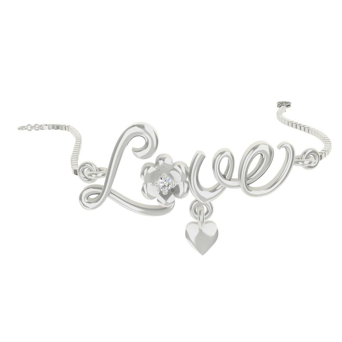 TBZ TheOriginal Daily Wear White Gold 18kt Diamond Bracelet(Rhodium Plated) at flipkart