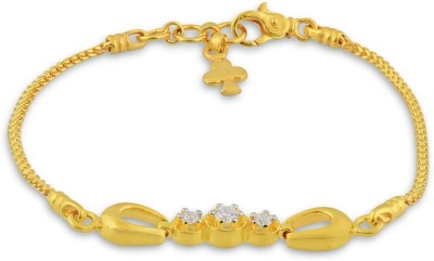 P.N.Gadgil Jewellers Spreading Sparkle Yellow Gold 22kt Bracelet(Yellow Gold Plated) at flipkart