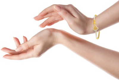 P.N.Gadgil Jewellers Love Words Yellow Gold 22kt Bracelet(Yellow Gold Plated) at flipkart