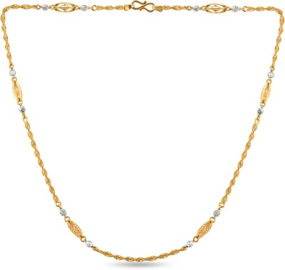 ZKD Jewels ZKDC028 Rope Chain Precious Chain(Yellow Gold 22kt NA)