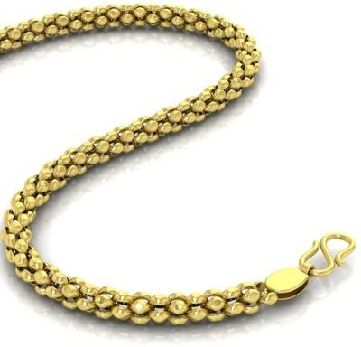 Avsar 16BAMBATO18K8GM24IN Ball Chain Precious Chain(Yellow Gold 18kt NA)