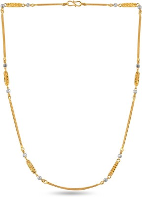 ZKD Jewels ZKDC023 Bar Chain Precious Chain(Yellow Gold 22kt NA)