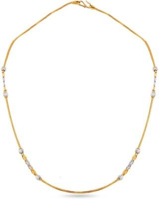 ZKD Jewels ZKDC022 Figaro Chain Precious Chain(Yellow Gold 22kt NA)