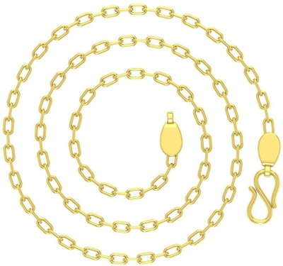 Avsar 18BELCHER18K35GM24IN Belcher and Rollo Chain Precious Chain(Yellow Gold 18kt NA)