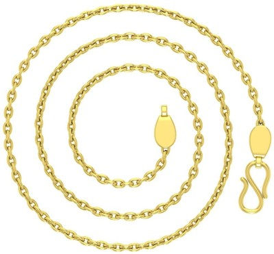 Avsar Cable Cable Chain Yellow Gold Precious Chain(18kt Not Plated Plated) at flipkart