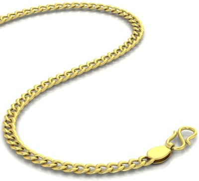 Avsar Curb Curb Chain Yellow Gold Precious Chain(18kt Not Plated Plated) at flipkart