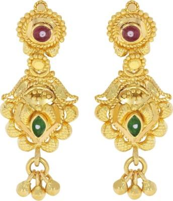 Kalyan Jewellers Calcutta Hanging Yellow Gold 22kt Drop Earring